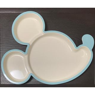Disney - 新品 ミッキー型 プレート 青