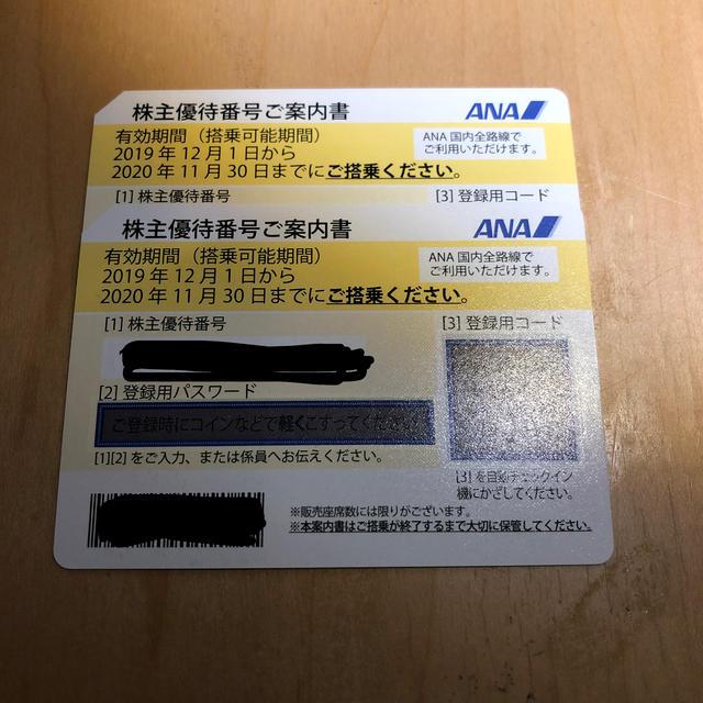 ANA(全日本空輸)(エーエヌエー(ゼンニッポンクウユ))のANA株主優待券 チケットの乗車券/交通券(その他)の商品写真
