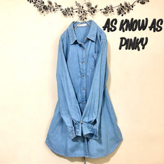 AS KNOW AS PINKY - 美品✨【as know as pinky】デニムシャツワンピース