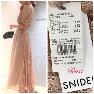 snidel - 完売色🌷新作新品🍀スナイデル レースフレアプリーツワンピース