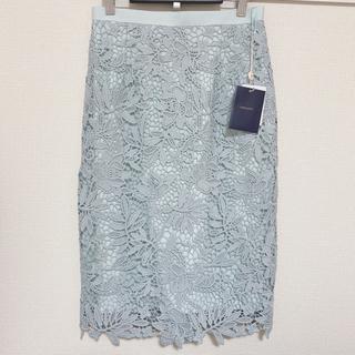 JUSGLITTY - JUSGLITTY◆フラワーレースタイトスカート◆新品◆タグ付き