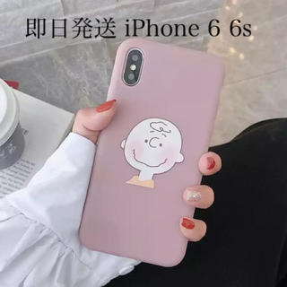 SNOOPY - チャーリーブラウン iPhone6 iPhone6s iPhoneケース ピンク
