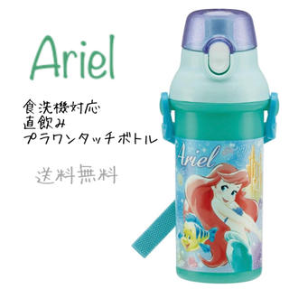 アリエル - ディズニー アリエル 水筒 直飲みプラワンタッチボトル 480ml 日本製