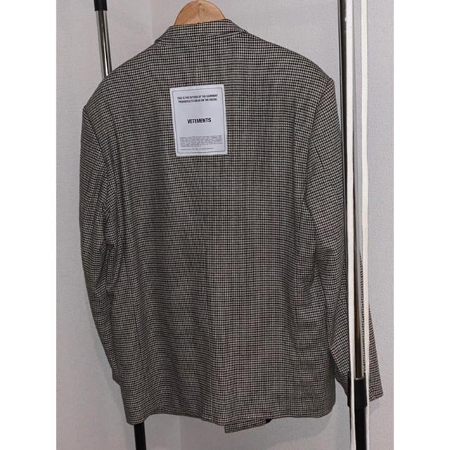 Balenciaga(バレンシアガ)のくう様専用VETEMENTS ダブルジャケット メンズのジャケット/アウター(テーラードジャケット)の商品写真