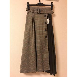 INGNI - 新品 INGNI  ベルト付チェック柄プリーツ切替/スカート allamanda