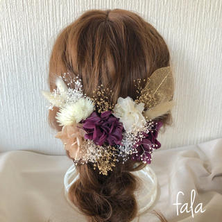 ドライフラワー   髪飾り ウェディング 和装