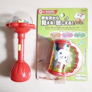 トイザラス(トイザらス)の新生児からのおもちゃ2セット(がらがら/ラトル)
