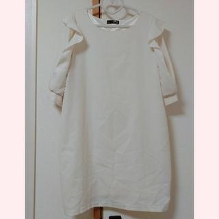 しまむら - しまむら♡袖デザインワンピース♡ホワイト