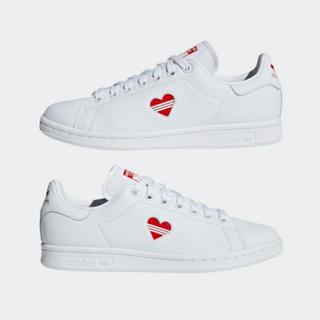 adidas - 24.5 アディダス オリジナルス スタンスミス ハート 白 ホワイト