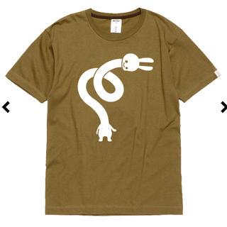 キューン(CUNE)のCUNE ウサギ ろくろ首 Tシャツ モスグリーン 完売品(Tシャツ/カットソー(半袖/袖なし))