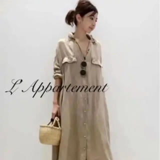 L'Appartement DEUXIEME CLASSE - ◇アパルトモンREMI RELIEF MAXI シャツワンピース34