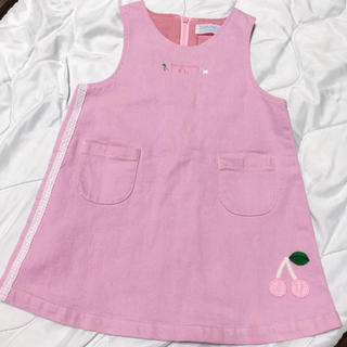 ポンポネット(pom ponette)の春物 ♡ ポンポネット ジャンパースカート ワンピース 90 90cm(ワンピース)