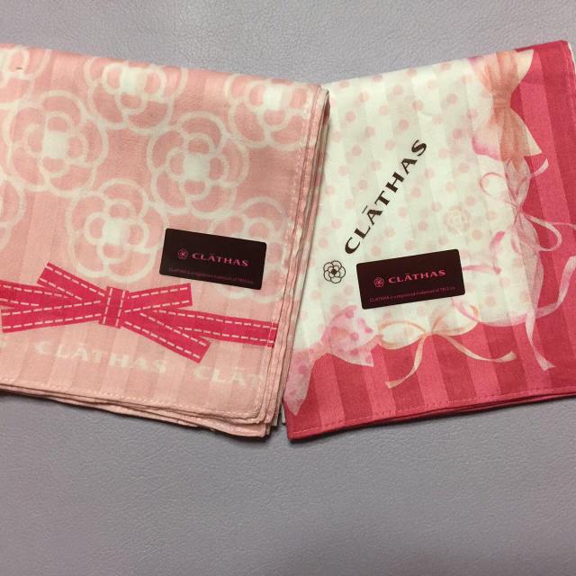 CLATHAS(クレイサス)のクレイサス♡綿ハンカチ レディースのファッション小物(ハンカチ)の商品写真