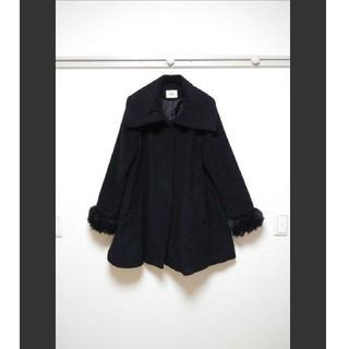 ムルーア(MURUA)のムルーア ブラック Aライン コート(毛皮/ファーコート)