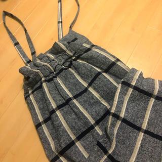 Kastane - ハイウエスト吊りスカート