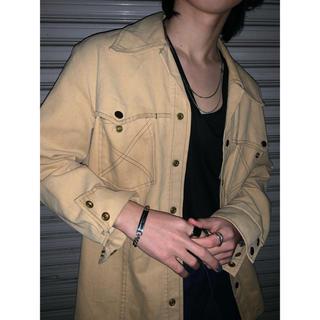 vintage shirt  80s ベージュ ウエスタン ジャケット Gジャン(その他)