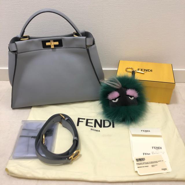 FENDI(フェンディ)の美品 FENDIピーカブー 2点セット レディースのバッグ(ハンドバッグ)の商品写真