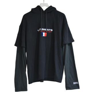 saintvêtement (saintv・tement) - VETEMENTS パーカー ブラック XL