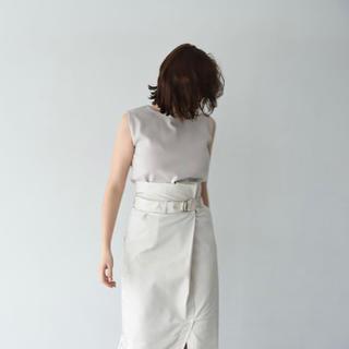 IENA - ウエストベルト/ラップタイトスカート/ホワイト/M