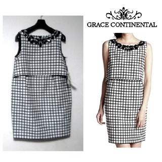 GRACE CONTINENTAL - 新品【GRACE CONTINENTAL】モノトーン タイト ワンピース