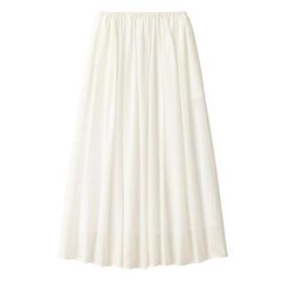 MUJI (無印良品) - 新品    無印良品  インド綿強撚イージーマキシスカート