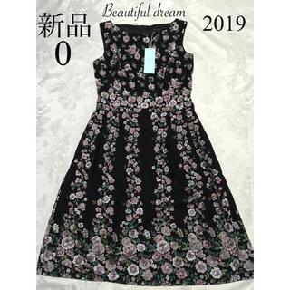 TOCCA - 新品 TOCCA BEAUTIFUL DREAM ドレス 0 黒 花柄 刺繍