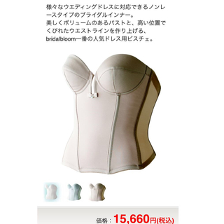 ブルーム(BLOOM)のブライダルブルーム ビスチェ B70(ウェディングドレス)