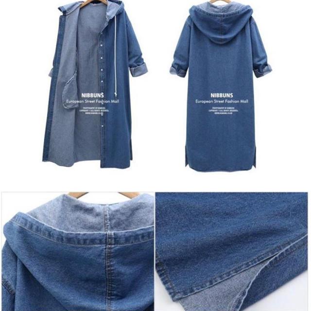 ZARA(ザラ)の新作入荷 人気 デニムコート スプリングコート フード パーカー オーバーサイズ レディースのジャケット/アウター(スプリングコート)の商品写真