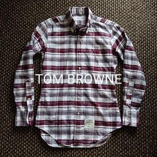 トムブラウン(THOM BROWNE)のTHOM BROWNE 美品 ボタンダウン オックスフォード チェックシャツ(シャツ)