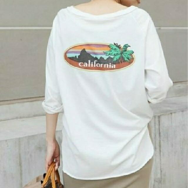 DEUXIEME CLASSE(ドゥーズィエムクラス)のDeuxieme Classe ラグランバックプリントTシャツ レディースのトップス(カットソー(長袖/七分))の商品写真