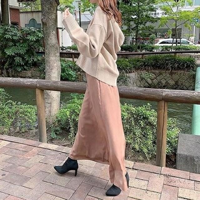 snidel(スナイデル)の新品タグ付❤️SNIDEL スナイデル サテンマーメイドスカート ピンクベージュ レディースのスカート(ロングスカート)の商品写真