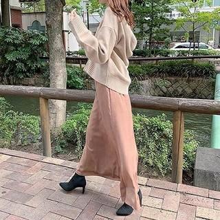 snidel - 新品タグ付❤️SNIDEL スナイデル サテンマーメイドスカート ピンクベージュ