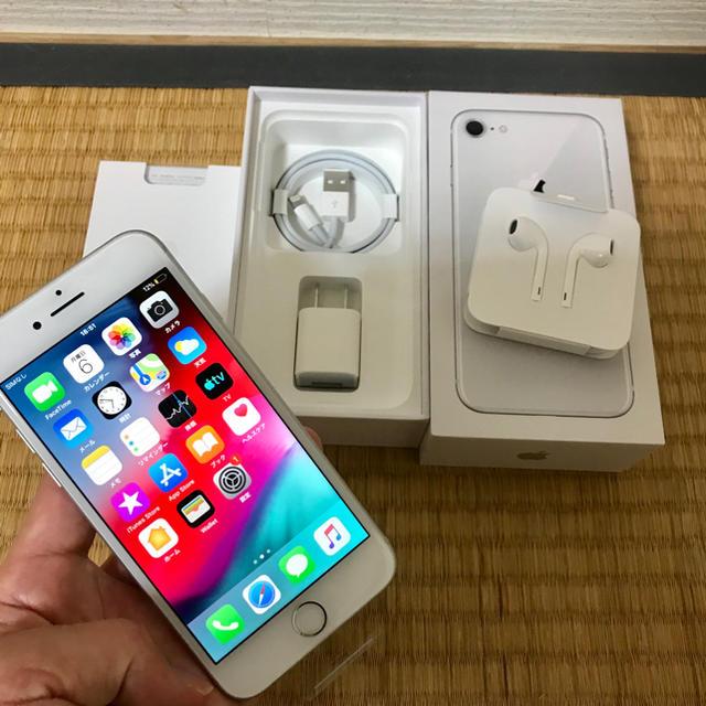 Apple(アップル)のiPhone 8 シルバー 64GB simフリー 新品未使用 スマホ/家電/カメラのスマートフォン/携帯電話(スマートフォン本体)の商品写真
