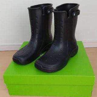 クロックス(crocs)のcrocs レインブーツ reny Ⅱ boot 黒 26cm(ブーツ)
