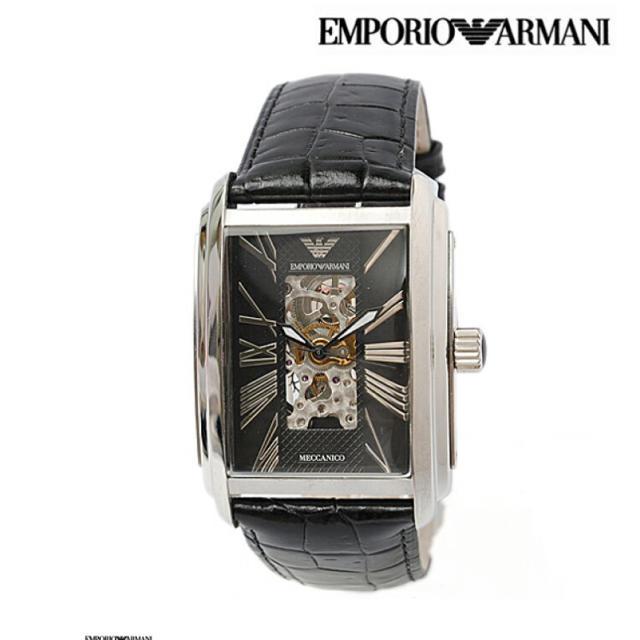 ロレックス の 腕 時計 、 Emporio Armani - EMPORIO ARMANI  自動巻きメカニコ スケルトンブラックAR4224の通販