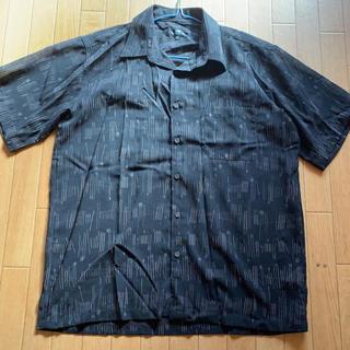 メンズトップス黒&スラックス(グレー)(Tシャツ/カットソー(半袖/袖なし))