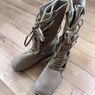コース(KOOS)のKOOS スエード 革 ブーツ(ブーツ)