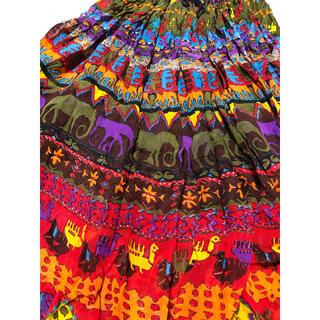 サンタモニカ(Santa Monica)のused vintage アニマル柄 マキシスカート(ロングスカート)