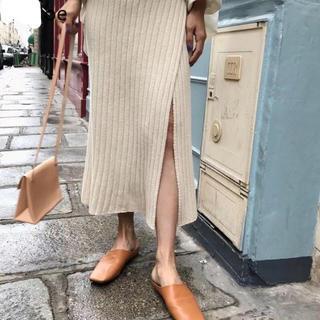 ユナイテッドアローズ(UNITED ARROWS)のリブニット巻きスカート(ロングスカート)