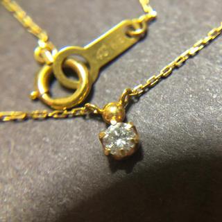 4℃ - K18 4°C 一粒ダイヤ ネックレス 18金