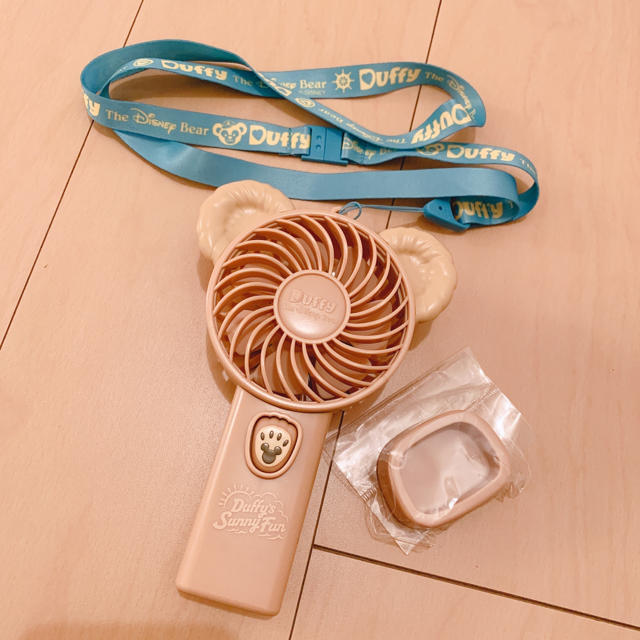 ダッフィー(ダッフィー)のダッフィー 携帯ファン 扇風機 エンタメ/ホビーのおもちゃ/ぬいぐるみ(キャラクターグッズ)の商品写真