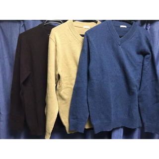 GU - 【セット販売‼️】GU Vネック ニット セーター ラム