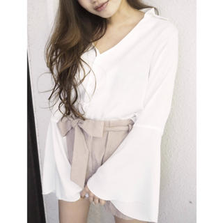 RESEXXY - RESEXXY サテン袖フレアシャツ