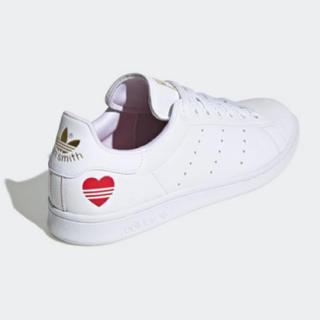 adidas - 24.0 アディダスオリジナルスのスタンスミス ハート 白 ホワイト