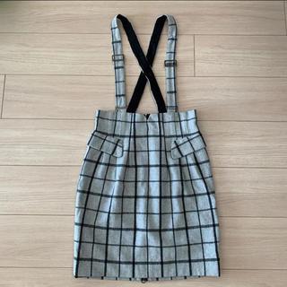 COCO DEAL - ココディール♡ サスペンダー付きチェックタイトスカート