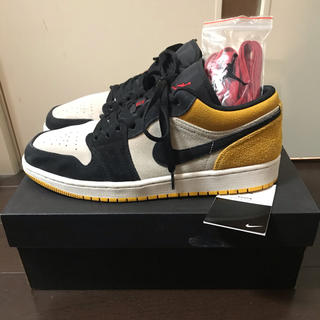 NIKE AIR JORDAN 1 LOW UNIVERSITY GOLD(スニーカー)