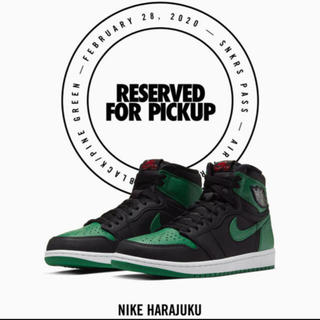 NIKE - Air Jordan 1 Black Pine Green