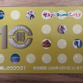 東京ドームシティ 得10チケット 5ポイント 2020年3月31日期限(遊園地/テーマパーク)