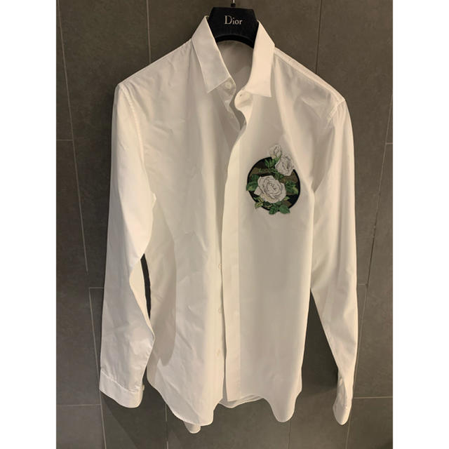 DIOR HOMME(ディオールオム)のdior homme 16ss 薔薇シャツ 37 メンズのトップス(シャツ)の商品写真