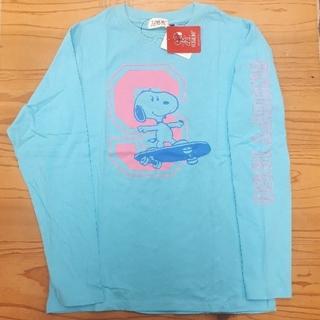 ピーナッツ(PEANUTS)の新品タグ付き サックス スヌーピー ロンT(Tシャツ/カットソー(七分/長袖))